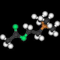 ALPHA GPC киселина в 3д изобразена химична формула