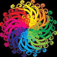 αφηρημένα χρώματα που συμβολίζουν τη νέα αντίληψη του κόσμου σε διαφορετικά επίπεδα εγκεφαλικής δραστηριότητας